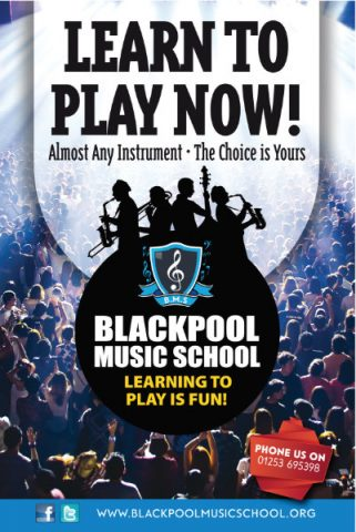 Blackpool Music School Bus Shelter Poster